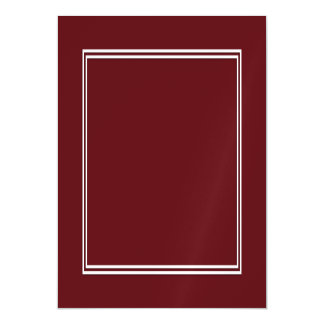 Double White Shadowed Border on Royal Rose Red Magnetic Card