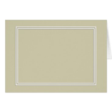 honor_and_obey Double White Shadowed Border on Spanish Moss Green Card
