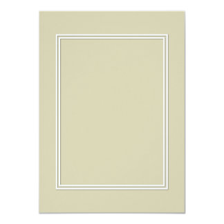Double White Shadowed Border on Spanish Moss Green Card