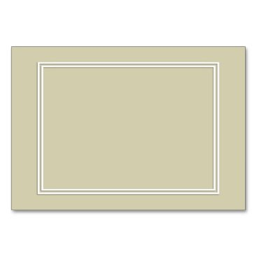 Beach Themed Double White Shadowed Border on Spanish Moss Green Card