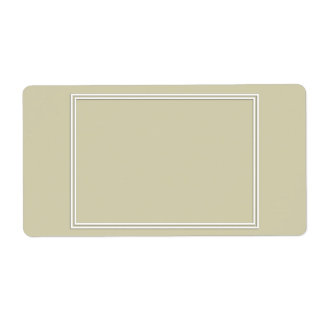 Double White Shadowed Border on Spanish Moss Green Shipping Label