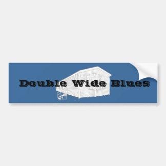 Double Wide Blues Car Bumper Sticker