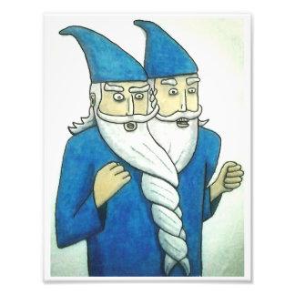 """Double Wizard"" Photo Print"