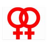Double Women Symbols Postcard