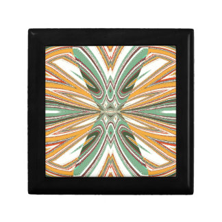 Double X In Cross Abstract Digital Design Trinket Box