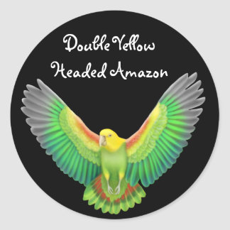Double Yellow Headed Amazon Sticker