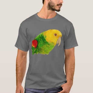 YCQUE Womens Cute Parrot Letter Summer Shirt Print T-Shirt Short Sleeve Top