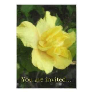 Double Yellow Hibiscus 1 Painterly Card