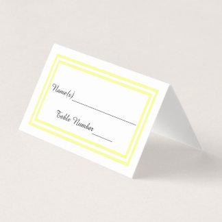 Double Yellow Trim - Escort Card