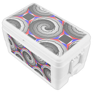 Double Yin Yang Spiral by Kenneth Yoncich Chest Cooler