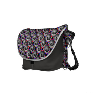 Double Yin Yang Spiral by Kenneth Yoncich Courier Bag