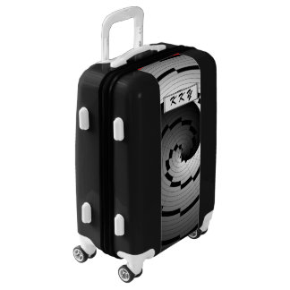 Double Yin Yang Spiral by Kenneth Yoncich Luggage