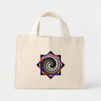 Double Yin Yang Spiral by Kenneth Yoncich Mini Tote Bag