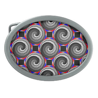 Double Yin Yang Spiral by Kenneth Yoncich Oval Belt Buckle