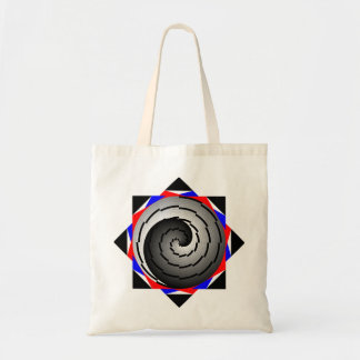 Double Yin Yang Spiral by Kenneth Yoncich Tote Bag