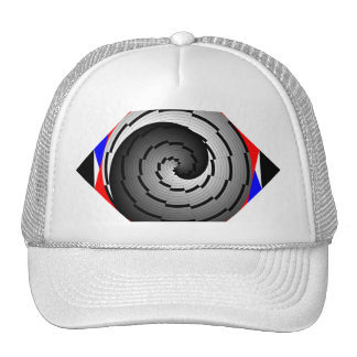 Double Yin Yang Spiral by Kenneth Yoncich Trucker Hat