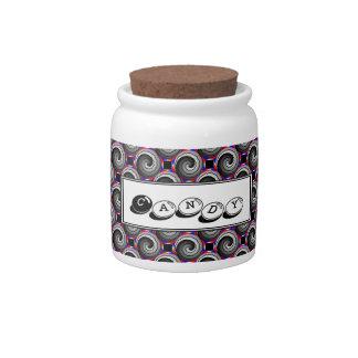 Double Yin Yang Spiral Candy Jar