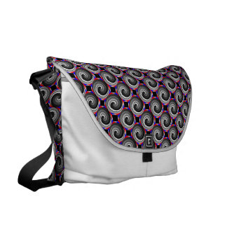 Double Yin Yang Spiral Courier Bag