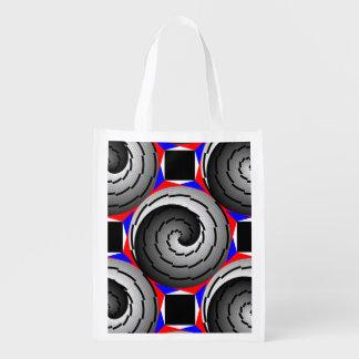 Double Yin Yang Spiral Grocery Bag