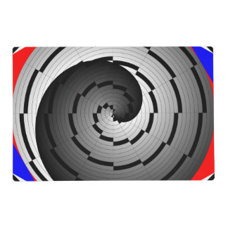 Double Yin Yang Spiral Placemat