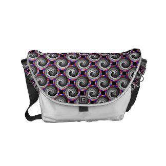 Double Yin Yang Spiral Small Messenger Bag