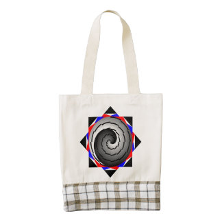 Double Yin Yang Spiral Zazzle HEART Tote Bag