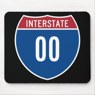 Double Zero Interstate Mouse Pad