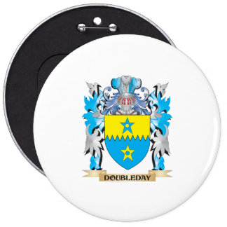 Doubleday Coat of Arms - Family Crest Pinback Buttons