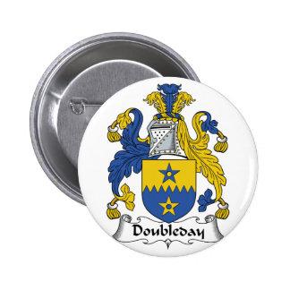 Doubleday Family Crest Button
