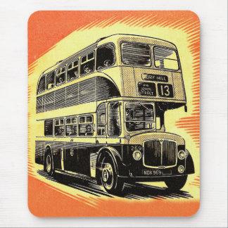Doubledecker Bus Coach UK Vintage Retro Mouse Pad