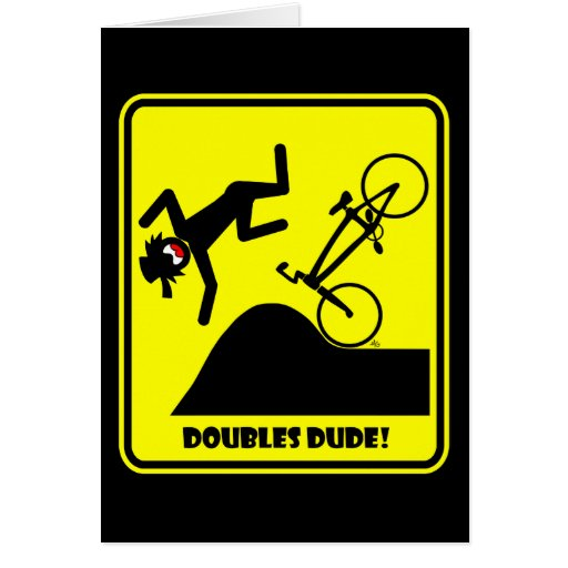 DOUBLES DUDE-41 GREETING CARD