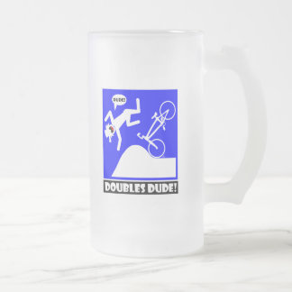 DOUBLES DUDE-59 FROSTED GLASS BEER MUG