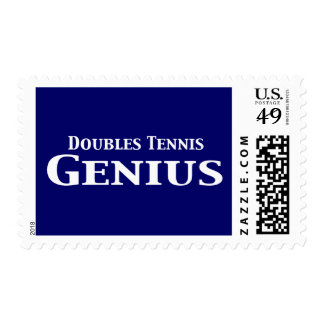 Doubles Tennis Genius Gifts Postage Stamp