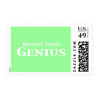 Doubles Tennis Genius Gifts Stamp