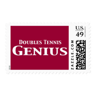 Doubles Tennis Genius Gifts Stamps