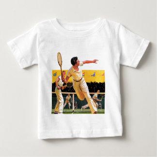 Doubles Tennis Match Baby T-Shirt