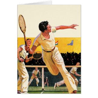 Doubles Tennis Match Card