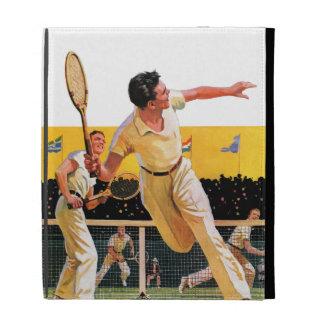 Doubles Tennis Match iPad Folio Cover