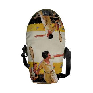Doubles Tennis Match Courier Bag