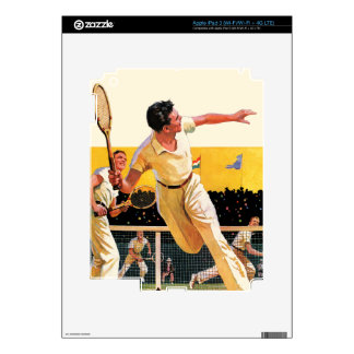Doubles Tennis Match Decal For iPad 3