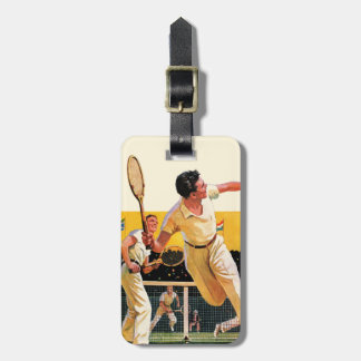 Doubles Tennis Match Luggage Tag