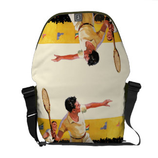 Doubles Tennis Match Messenger Bag