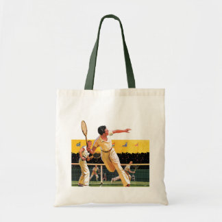 Doubles Tennis Match Tote Bag