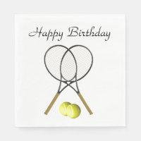 Doubles Tennis Sport Birthday Napkins