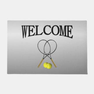 Doubles Tennis Sport Theme Doormat