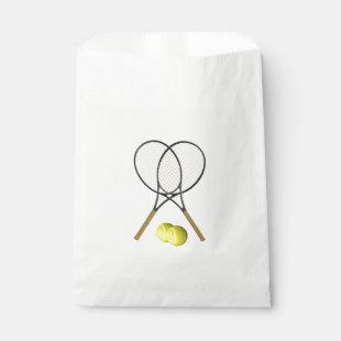 Doubles Tennis Sport Theme Favor Bag