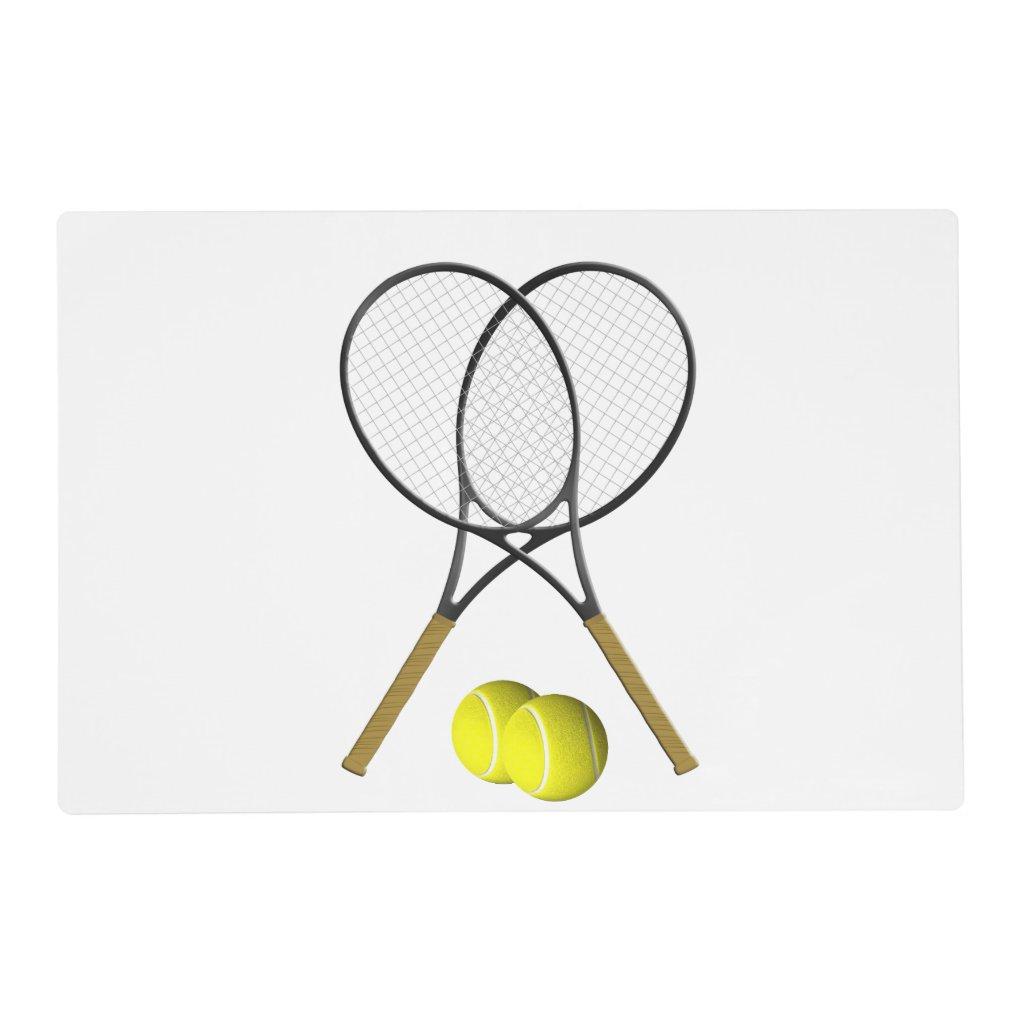 Doubles Tennis Sport Theme Placemat