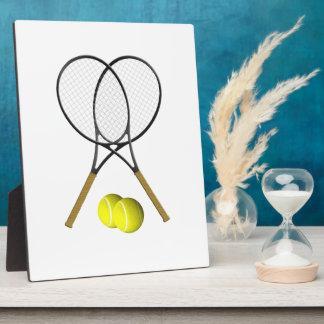 Doubles Tennis Sport Theme Plaque