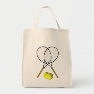 Doubles Tennis Sport Theme Tote Bag