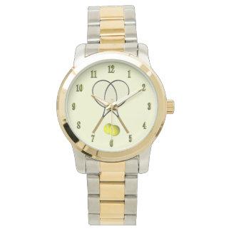 Doubles Tennis Sport Theme Wrist Watch